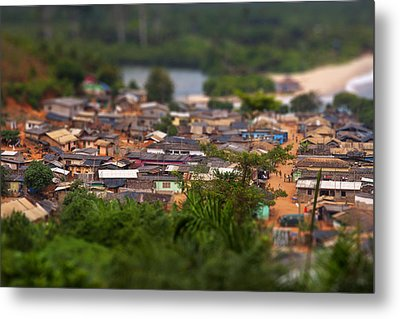 Ghanaian Village Metal Print by Samuel Whitton