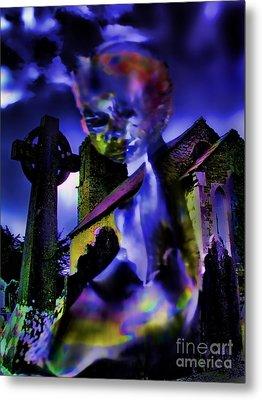 Ghost At A Cemetary Metal Print by Alexandra Jordankova