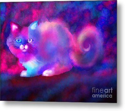 Ghost Cat 2 Metal Print by Nick Gustafson