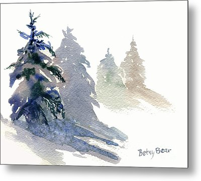 Ghost Spruce Metal Print by Betsy Bear