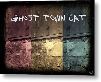 Ghost Town Cat Metal Print by Absinthe Art By Michelle LeAnn Scott