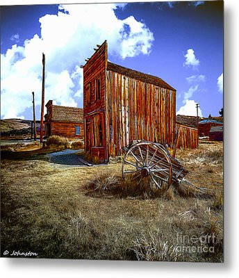 Ghost Towns In The Southwest Metal Print by Bob and Nadine Johnston