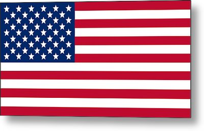 Giant American Flag Metal Print by Ron Hedges