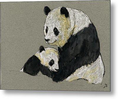 Giant Panda Metal Print by Juan  Bosco