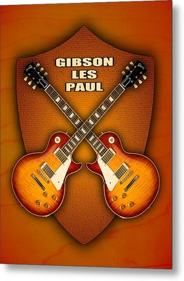 Gibson Les Paul Standart  Shield Metal Print by Doron Mafdoos