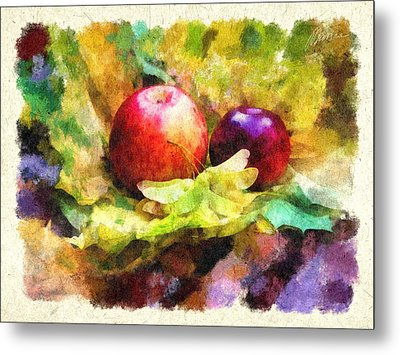 Gifts Of Autumn Metal Print by Marina Likholat