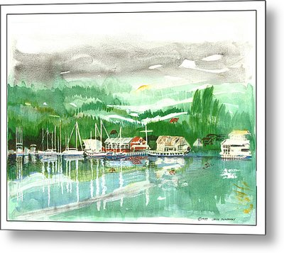 Gig Harbor Waterfront Metal Print by Jack Pumphrey