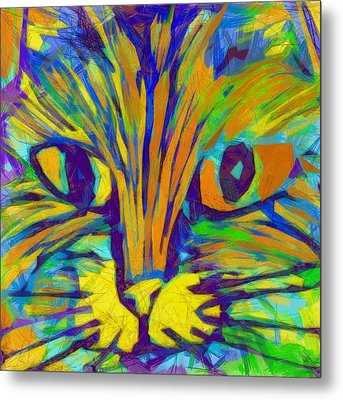 Ginger Kitty Metal Print by Michelle Calkins