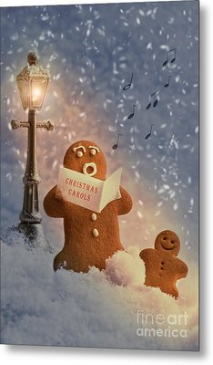 Gingerbread Carol Singers Metal Print by Amanda And Christopher Elwell