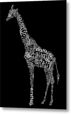 Giraffe Is The Word Metal Print by Heather Applegate