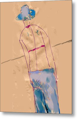 Girl From The Back Metal Print by Margie Lee
