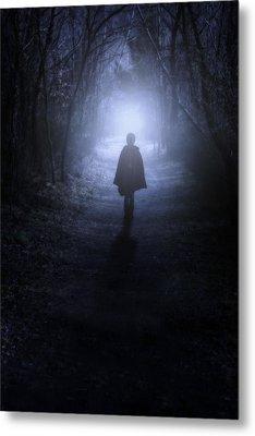 Girl In The Woods Metal Print by Joana Kruse