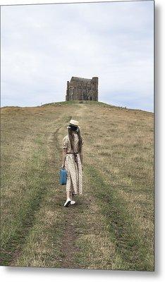 Girl Walks To A Chapel Metal Print by Joana Kruse