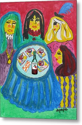 Girls Night Out Metal Print by Diane Pape
