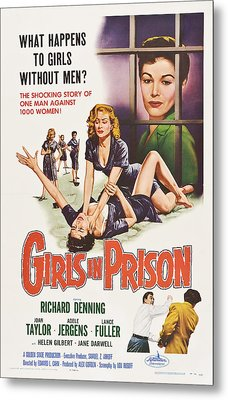 Girls In Prison, Us Poster, Joan Metal Print by Everett