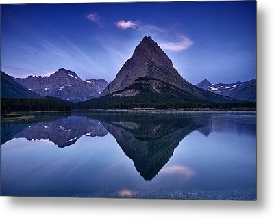 Glacier Park Reflection Metal Print by Andrew Soundarajan