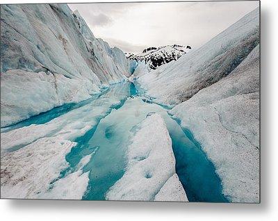 Glacier Pathway Metal Print by Jen Morrison