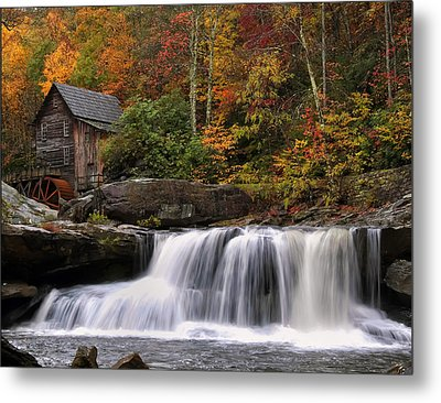 Glade Creek Grist Mill - Photo Metal Print by Chris Flees
