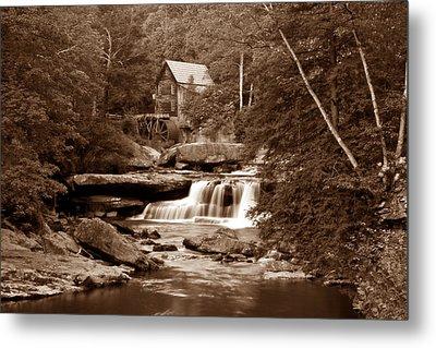 Glade Creek Mill In Sepia Metal Print by Tom Mc Nemar