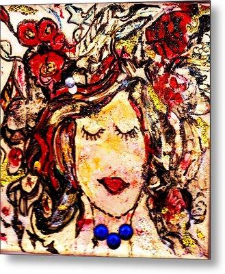 Glamour Girl Metal Print by Anne-elizabeth Whiteway