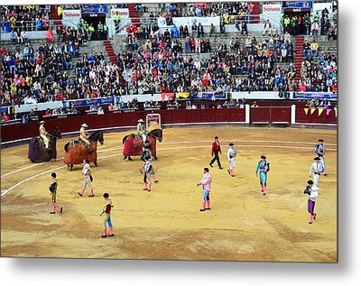 Glamour In The Bullfight Metal Print by Laura Jimenez