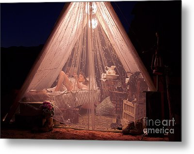 Glamping Metal Print by Mary AD Art