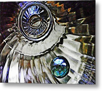 Glass Abstract 374 Metal Print by Sarah Loft