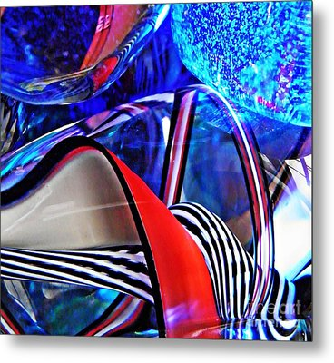 Glass Abstract 503 Metal Print by Sarah Loft