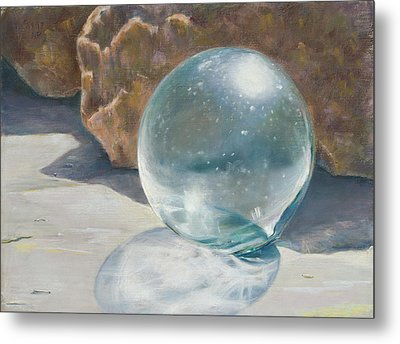 Glass Float Metal Print by Nick Payne