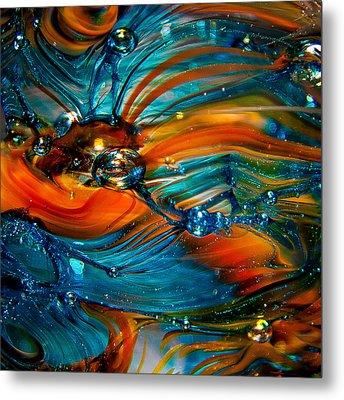Glass Macro Abstract Rto Metal Print by David Patterson