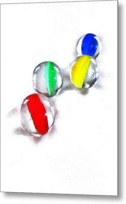 Glass Marbles Metal Print by Marianna Mills
