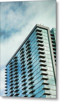 Glass Skyscraper Downtown Nashville Tennessee Metal Print by Jai Johnson