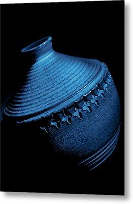 Glazed-blue Metal Print by Tom Druin