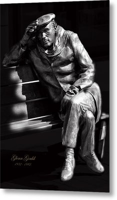 Glenn Gould Metal Print by Andrew Fare