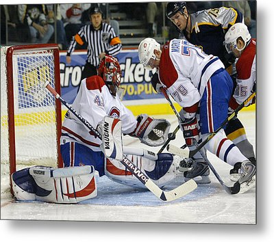 Glove Save In Traffic Metal Print by Don Olea