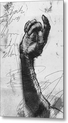 Glove Study Metal Print by H James Hoff