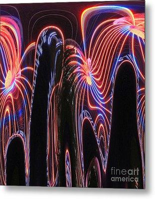Glowing Curves Metal Print by Marian Bell