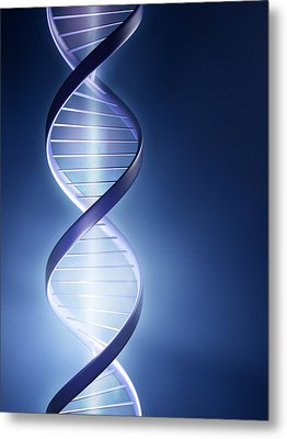 Dna Technology Metal Print by Johan Swanepoel