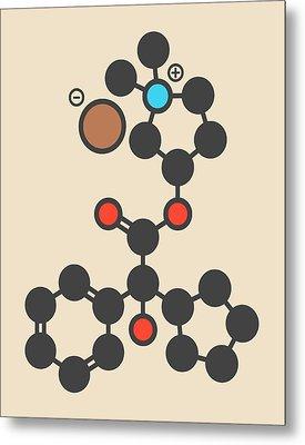 Glycopyrronium Bromide Drug Molecule Metal Print by Molekuul