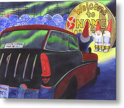 Gnomes Nomad In Nome Metal Print by Catherine G McElroy