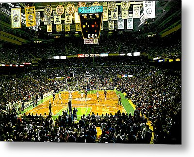 Go Celtics Metal Print by David Schneider