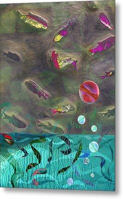 Go Fish Metal Print by Maria Jesus Hernandez