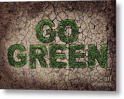 Go Green Metal Print by Jelena Jovanovic