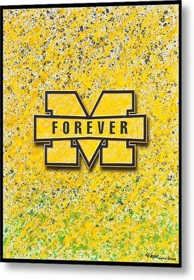 Go Michigan Metal Print by Lance Graves