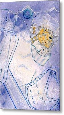 Goalie Missed Metal Print by Rosemary Hayes