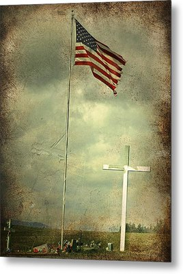 God And Country Metal Print by Doug Fredericks