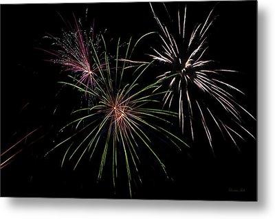 God Bless America Fireworks Metal Print by Christina Rollo