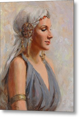 Goddess Metal Print by Anna Rose Bain