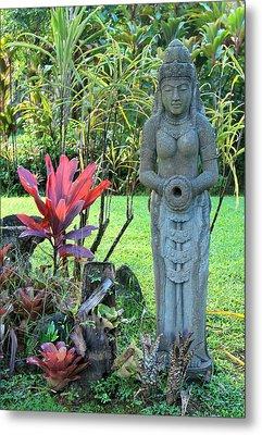 Goddess Bhudevi Mother Earth Metal Print by Karon Melillo DeVega