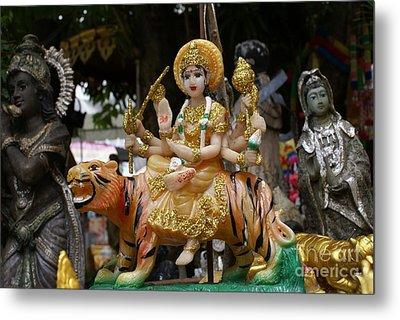 Goddess Durga Metal Print by Gregory Smith